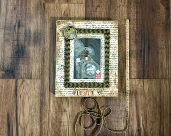 Young Love, Assemblage Art, Romance, Mementos, Anniversary Gift