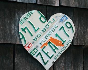 Florida Broward Hillsborough 1979 1988 License Plate Heart