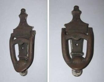 Vintage Brass Door Knocker, Mid Century Door Hardware, Metal Classic Door Knocker, 1940's Hardware