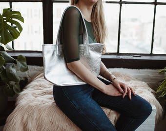 MILA Shoulder Bag. Leather Shoulder Bag. Leather Purse. Gold Leather Bag. Gold Leather Shoulder Bag. Lightweight Shoulder Bag.