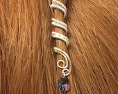 "Viking Hair Jewelry - Viking Hair Beads - Viking jewelry - Braid Beads - Hair Clips -  Custom ""FairyTail"" Wire-Wrapped Hair Cuff."