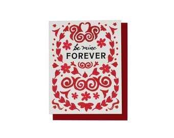 Be Mine Forever, Valentine Card