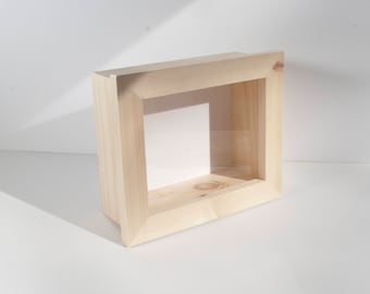 11x14 Shadow Box KIT - EXTRA Deep, 4 Inch Deep or 5 inch Deep, Display Frame - Natural Wood, Unfinished, Front Opening