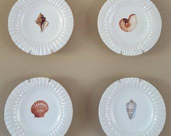 Raymond Waites Oceana Dessert Plates Vintage set of 4