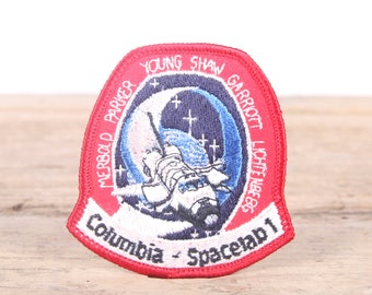 Vintage Columbia Patch / Columbia Spacelab 1 Patch / NASA Patch / Girl Scout Patch / Boy Scout Patch / Grunge Patch