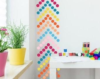 "Peel and Stick Polka Dots  // 220 -  2"" dots per pack // Polka Dots Decals // Nursery Wall Decor // Polka Dot Stickers"