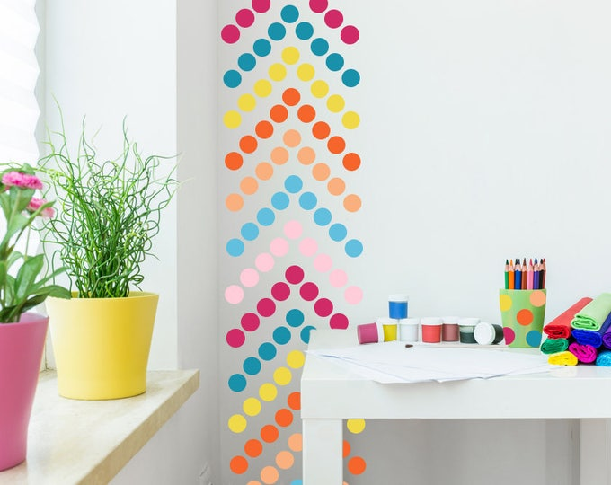 "Polka Dot Wall Decal  //  Polka Dots Decals // Nursery Wall Decor // Polka Dot Stickers // 220 -  2"" dots per pack"
