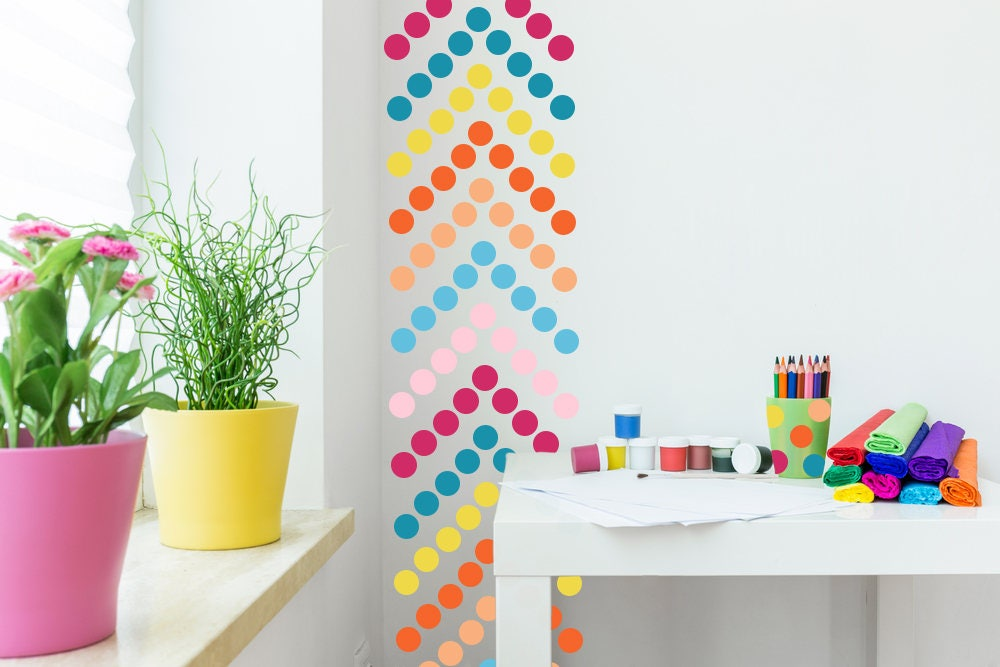 Polka Dot Wall Decal // Polka Dots Decals // Nursery Wall Decor ...