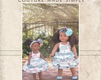 Dawn's Fitted Top and Stacey's Ruffled Skirt PDF Pattern Doll Sizes