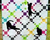 Playful Cats Lap Quilt