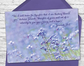 Thoughts of Peace - Scriptural Greeting Card