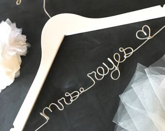 Bridesmaid Dress Hanger, Wedding Hanger, Bridal Hanger, Dress Hanger Wire, Personalized Custom Wedding Hanger, Personalized Hanger