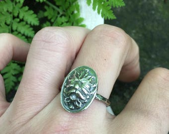 Silver Greenman Ring - Green Man Jewelry - Elven Ring - Viking Jewelry - Medieval - Renaissance - Celtic - Pagan