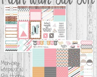 Weekly Sticker Kit Sized for Large HappyPlannerTM | Pastel