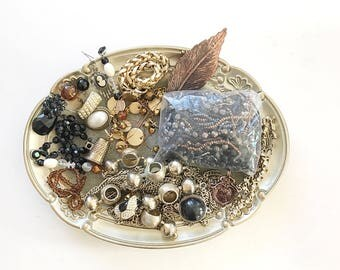 GORGEOUS vintage DeStash Lot! Awesome Price!! Costume jewelry lot, salvage, supply lot, bead lot, up cycle, repair, repurpose LOT B5