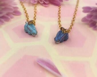Handmade Bronze Bunny Necklaces