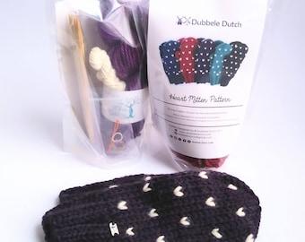 DIY Mitten Kit // Fair Isle Mitten Kit // Knit it yourself kit // Knit Kit