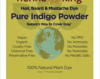 Henna King Pure Indigo 100% Natural & Chemical Free Hair Coloring