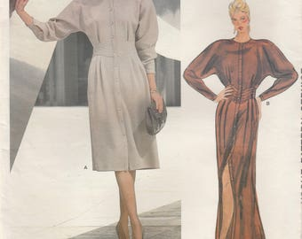 Geoffrey Beene Dress Pattern Vogue 1285 Size 14 Uncut