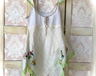 Fresh Spring Cami Pinafore DressAngel Wing Size Small