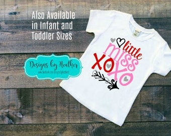 Valentine's Shirt - Toddler and Youth - Little Miss XOXO T-Shirt - Kid's Valentine Shirt