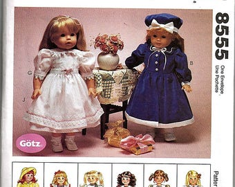 """18"""" (45.5cm) Doll Clothes / Original McCall's Crafts Uncut Sewing Pattern 8555"""