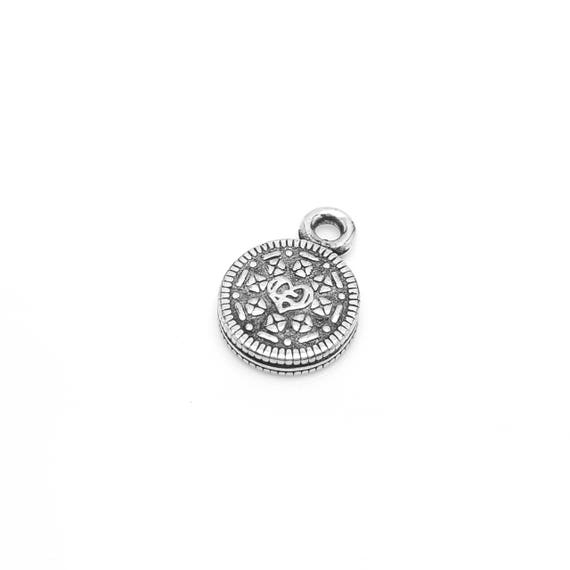 Chocolate Sandwich Cookie Charm - Add a Charm to a Custom Charm Bracelets, Necklaces or Key Chains -  Nickel Free Charms