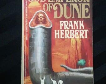 God Emperor of Dune by Frank Herbert ~ Vintage 1986 Dune Chronicles Science Fiction Paperback Novel Book