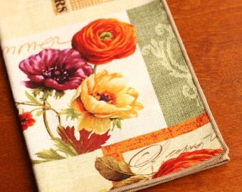 Fall Napkins, Set of 4 Cloth Napkins, Late Summer, Early Fall Decor, Table Accents
