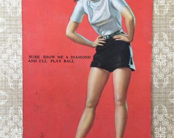 Darling 1940's Pin-Up Girl Card by Mutoscope