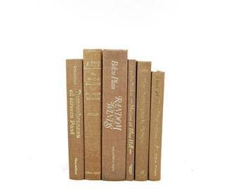 Brown Decorative books,  Book Collection, Instant Library, Book Set, Home Decor, Interior Design, Wedding centerpiece book decor