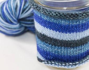 Self Striping Sock Yarn /  Hand Dyed in Aquarius Colorway / Zodiac Inspired Colorway / Superwash Merino and Nylon Fingering Yarn