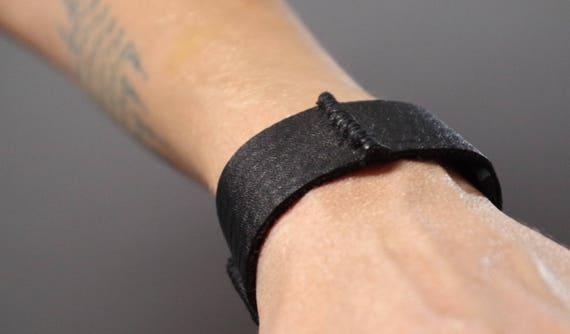 Unisex Leather Cuff Bracelet - Leather Cuff Bracelet - Leather Cuff - Black Leather Cuff Bracelet - Leather Black Cuff