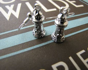 Silver Lighthouse Earrings