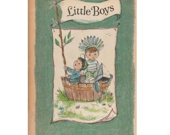 vintage baby shower gift, Little Boys, baby boy gift, newborn boy, vintage baby boy, son book, vintage boys book, boy baby shower gift