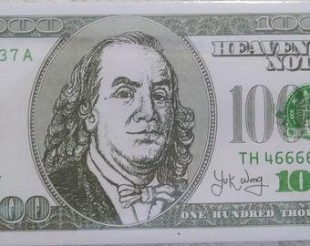 One Hundred Thousand Dollars Benjamin Franklin Ancestor Money