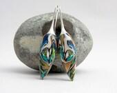 Art Polymer clay  Fimo Ohrpendel , Ohrringe millefleur tragbare Kunst