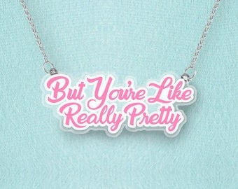 Really Pretty Necklace - Pastel Grunge, Soft Grunge, Aesthetic, Mean Girl, You Can Sit With Us