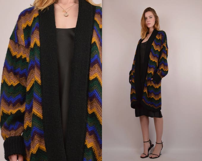 Vintage Oversized Knit Cardigan Sweater