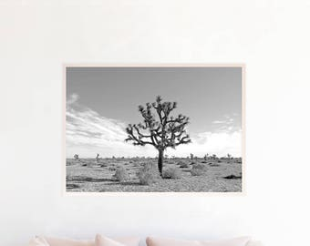 Joshua Tree Print, Joshua Tree Wall Art Printable, Joshua Tree Desert Photography Download, Joshua Tree Art, Desert Art Print Photo, jt2bwl