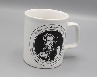 Commemorative Margaret Thatcher Duke of Wellington Ceramic Mug 1980's