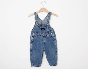 Vintage Oshkosh Overall Dungarees in Denim 12 Months