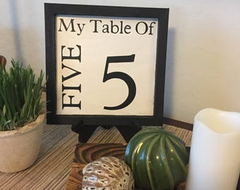 My Table of ________