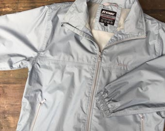 K-Way Grey/Blue Zip Up Jacket