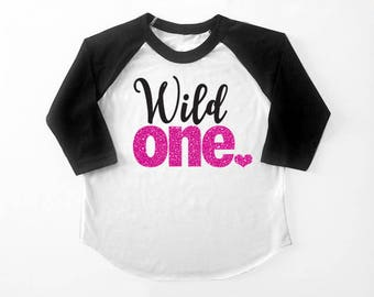 Wild One 1st Birthday Tri-blend Raglan Baseball Shirt - Infant, Toddler sizes