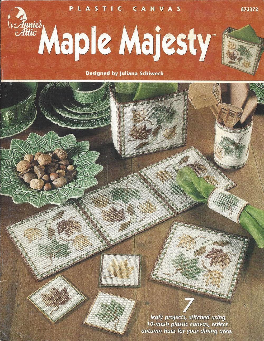 Maple Majesty Plastic Canvas Pattern Book Calendar Topper