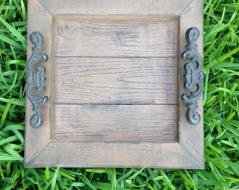 Decorative / Serving Tray - Brown Distressed