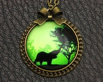 Necklace african elephant 2525C