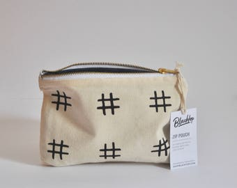 Zipper Pouch: Hashtag Black and White, Makeup Case, Clutch Purse, Vegan Wallet, Pencil Case, Zip Pouch, Bag, Organizer