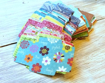 DIY Mini Envelopes -Square Mini Envelopes pack of 50 - You fold and glue -random prints and patterns - 2.25 inch